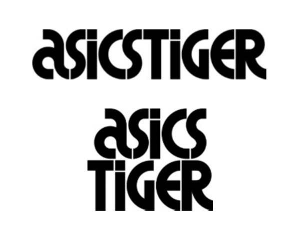 asics tiger original logo design
